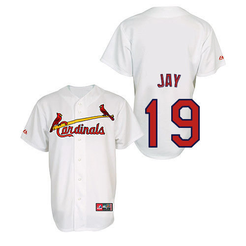 Jon Jay #19 Youth Baseball Jersey-St Louis Cardinals Authentic Home Jersey by Majestic Athletic MLB Jersey